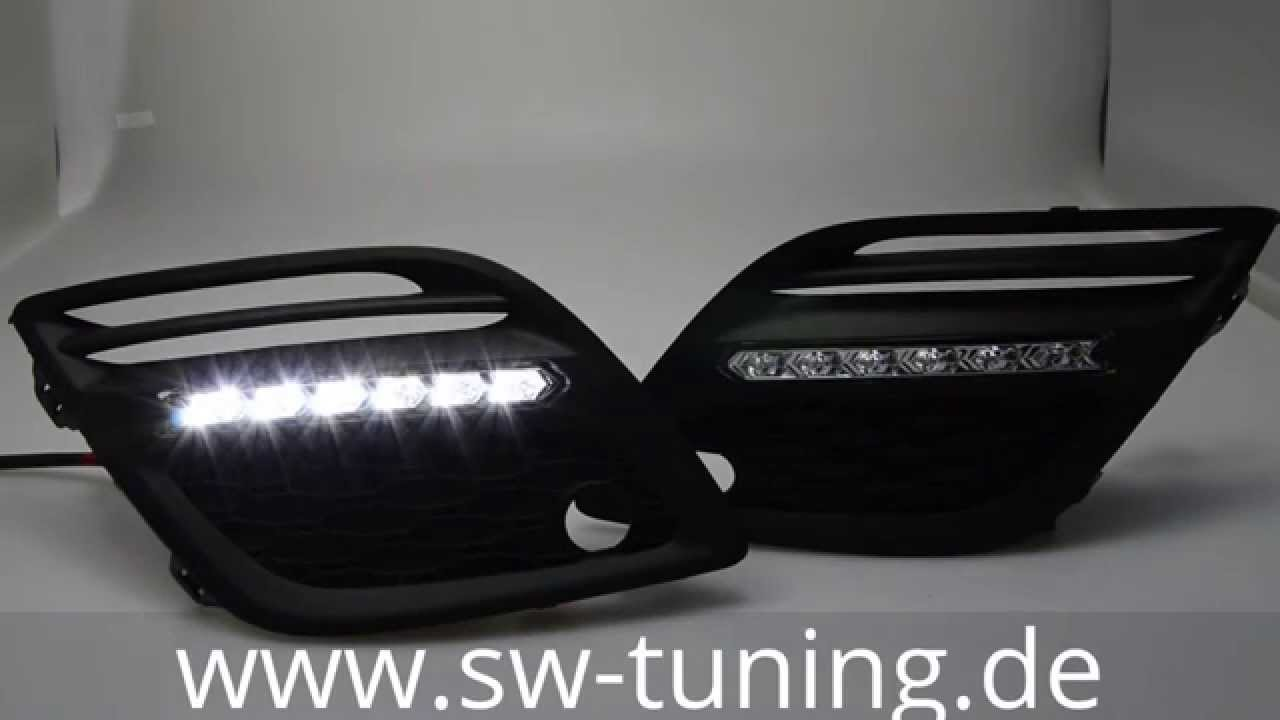 sw drl led tagfahrlicht f r volvo xc60 sw tuning youtube. Black Bedroom Furniture Sets. Home Design Ideas