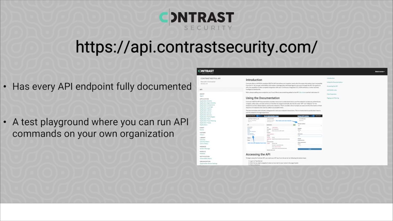 Video] How to get started with the REST API – Contrast