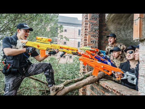 LTT Nerf War : Captain SEAL X Warriors Nerf Guns Fight Crime Group Dr.Lee Crazy Crossfire Bandits