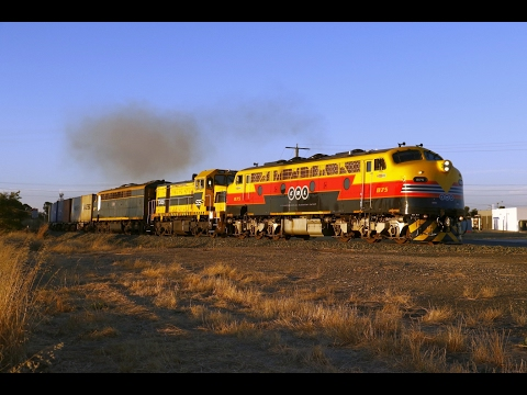 Vintage EMD's on the Deni Rice: 9372 departs Echuca with B75, T386 and S303- 3/2/17