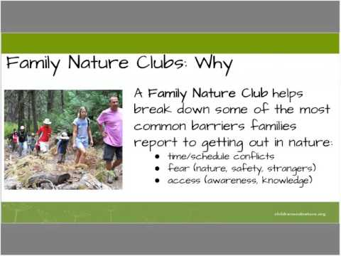 """Theory Into Practice Family Nature Clubs """"how to"""""""