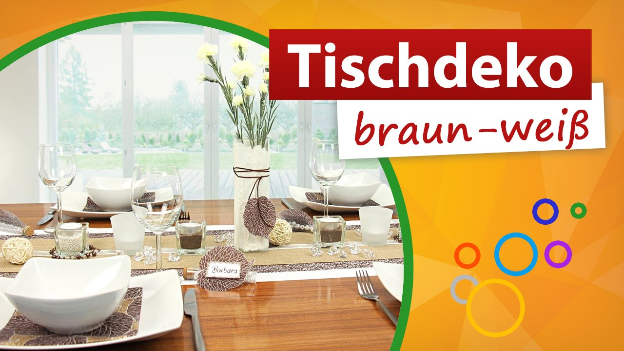 Tischdeko Braun Weiss Min Video Trendmarkt24 Youtube