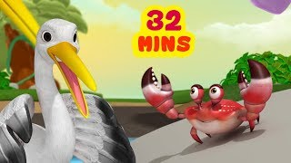 The Crane and the Crab Story | Telugu Stories Collection for Children | Infobells