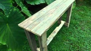 Reclaimed Pallet Wood Sofa/entry Table