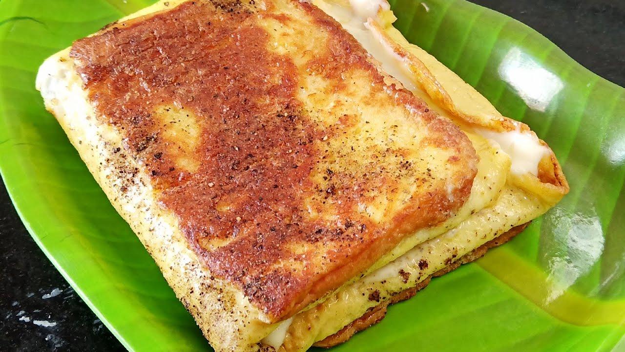 Bread Omelette recipe in Tamil # Bread omelet sandwich ...