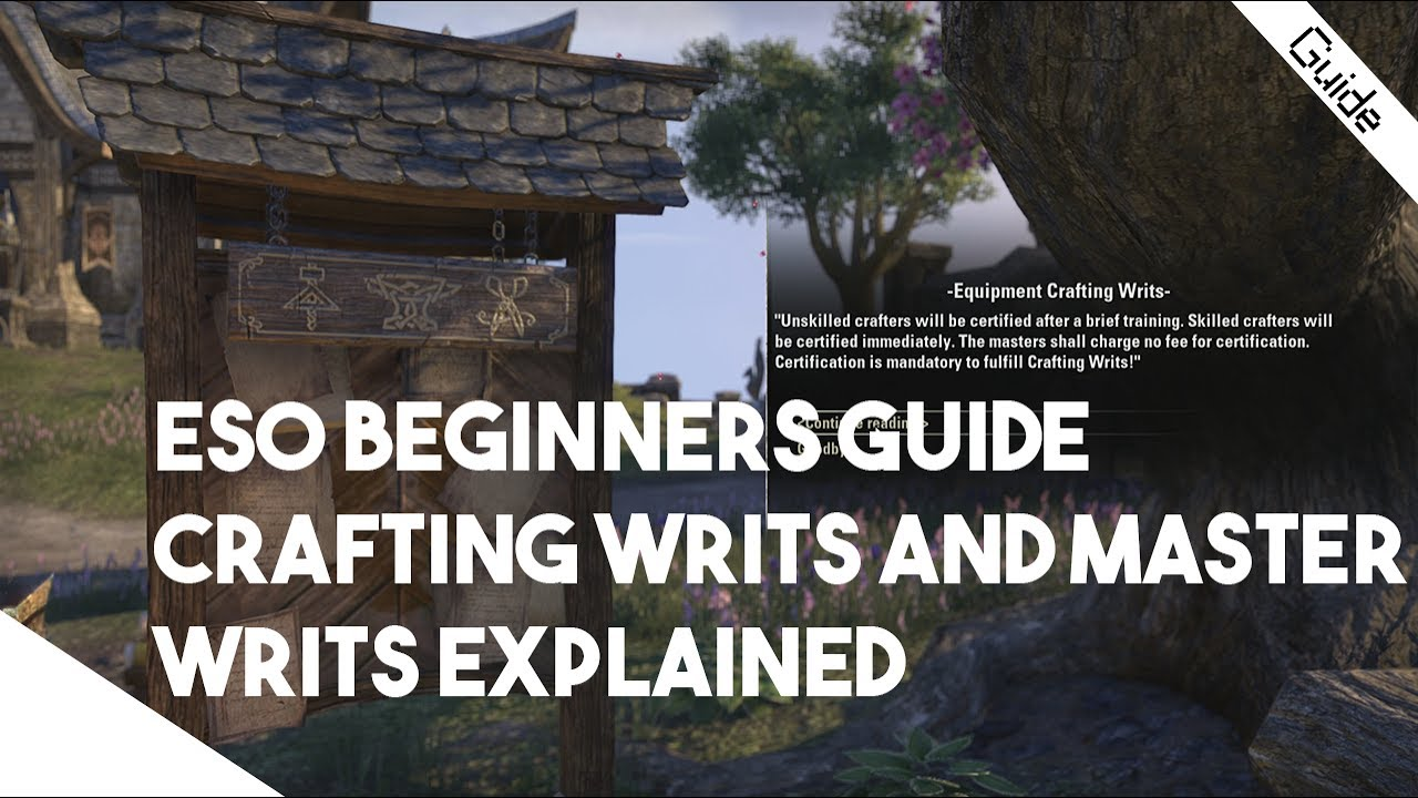 Crafting Writs In Eso