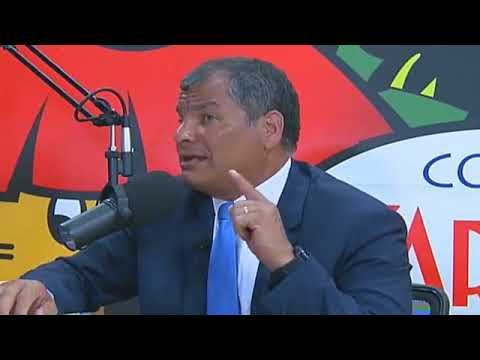 Rafael Correa con Zaracay TV y Radio Zaracay en Santo Domingo de los Tsáchila