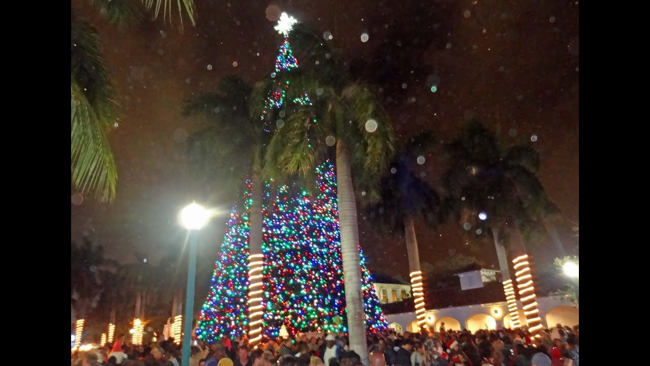 Santa and Christmas Tree Lighting 2012 Delray Beach FL YouTube