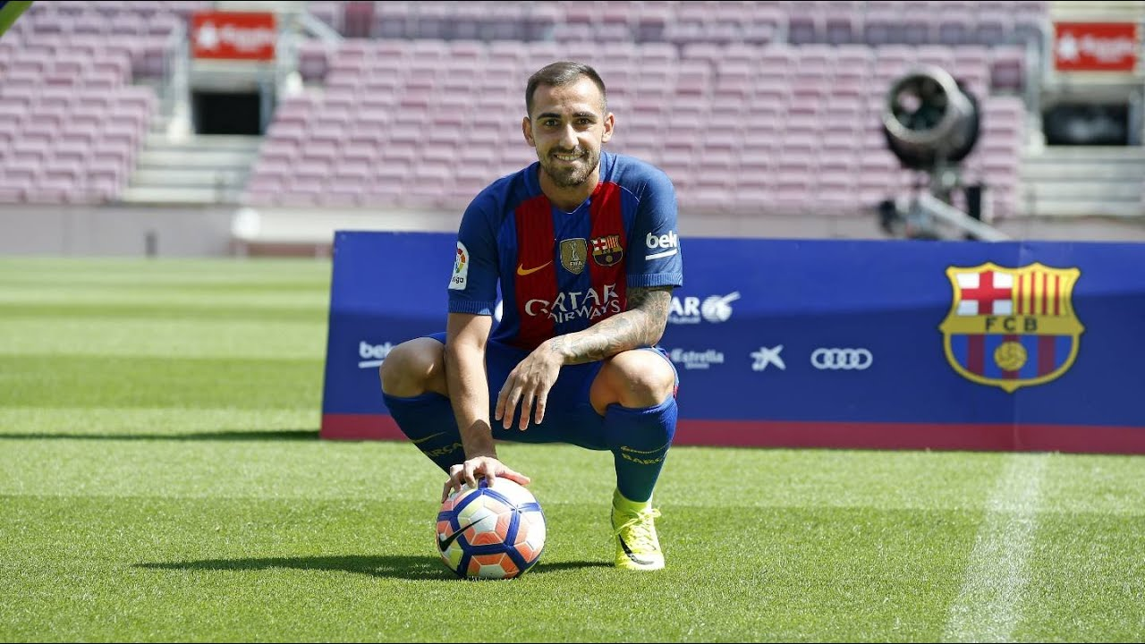 Paco Alcacer at the Camp Nou