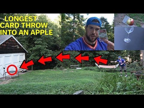 LONGEST Card Throw Into An Apple | L.A. BEAST