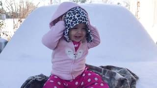Baby Outdoor Videos 😛 😜 😝 Cute Babies Playing in the Snow First Time 👉🏽 Funny Baby Video🧸