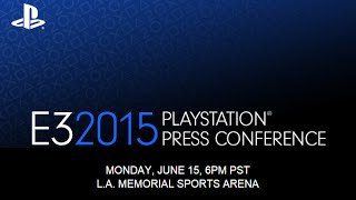 Playstation E3 2015 Conference Sony 1080p HD Full Complete Reveal Announcement