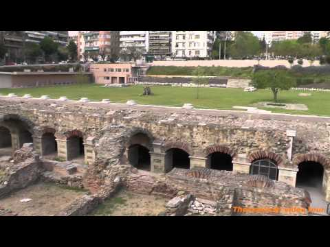 Thessaloniki, The Ancient Agora Square (1080p HD)
