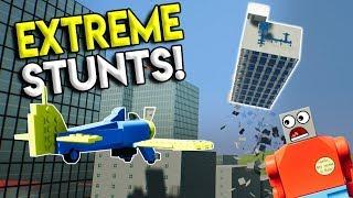 LEGO STUNT PLANE RACES SKYSCRAPER? - Brick Rigs Gameplay Challenge - Stunts & Jumps