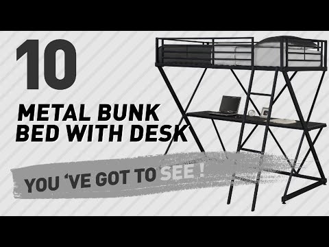 Metal Bunk Bed With Desk Collection // The Most Popular 2017