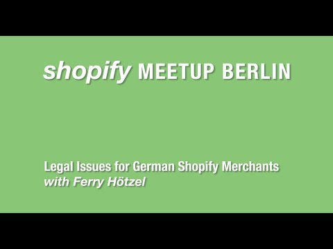 Ferry Shopify Meetup Legal Issues