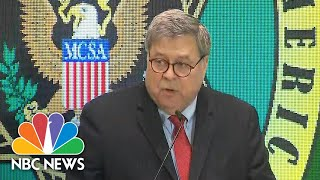 Barr Says 'Self-Styled Social Justice' DAs Are Endangering Communities   NBC News