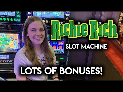 Richie RICH! Slot Machine!! Jackpot Jump BONUSES! Can I Pick Well?