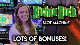 Richie RICH! Slot Machine!! Jackpot Jump BONUSES! Can I Pick Well?