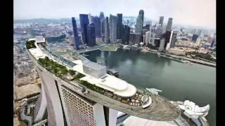 Крыша отеля Marina Bay Sands. Сингапур(Отели Сингапура сами по себе широко известны в мире своим комфортом и отличительными чертами, такими, к..., 2014-06-22T08:35:31.000Z)