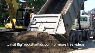 Dump Truck Dumping Dirt for Kids!