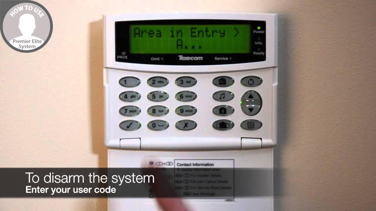 How To Operate Your Texecom Premier Elite Alarm System Via
