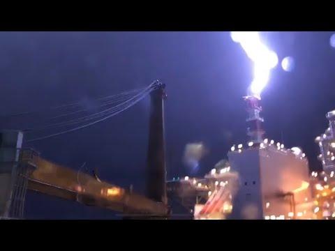 INPEX Ichthys FPSO struck by lightning