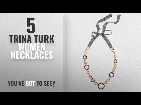 "10 Best Trina Turk Design Women Necklaces: Trina Turk ""Destination Groove"" Ribbon Tie Back Resin"