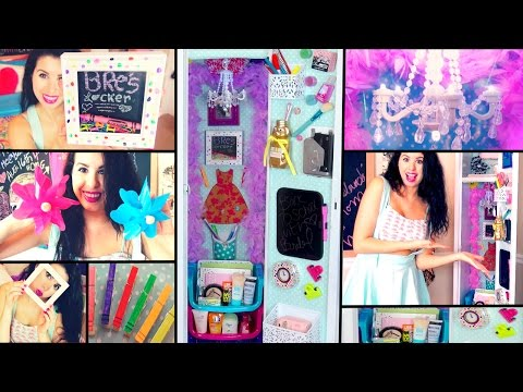 DIY Back To School Locker Makeover! Cheap Ways To Decorate & Organize Your Locker!