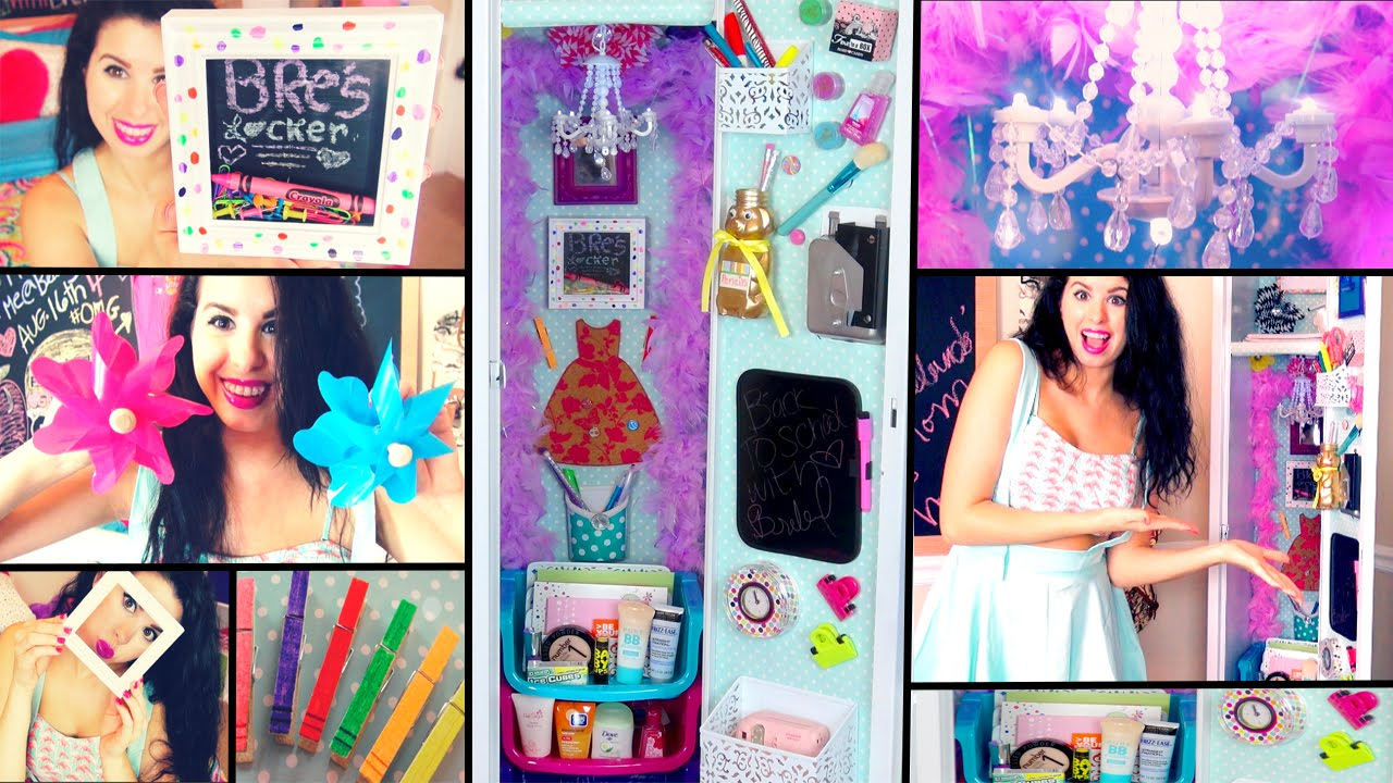 diy back to school locker makeover cheap ways to decorate organize your locker youtube - Locker Designs Ideas
