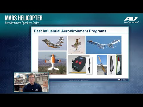 Mars Helicopter Speakers Series - Drawing on AeroVironment Legacy
