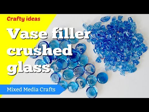 Break up glass pebbles into crushed glass for resin geode art pieces - safely