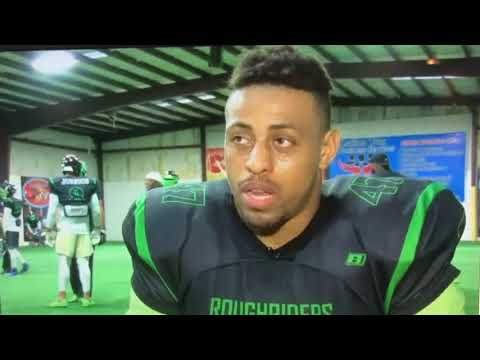 Greg Hardy Playing with the Richmond Roughriders