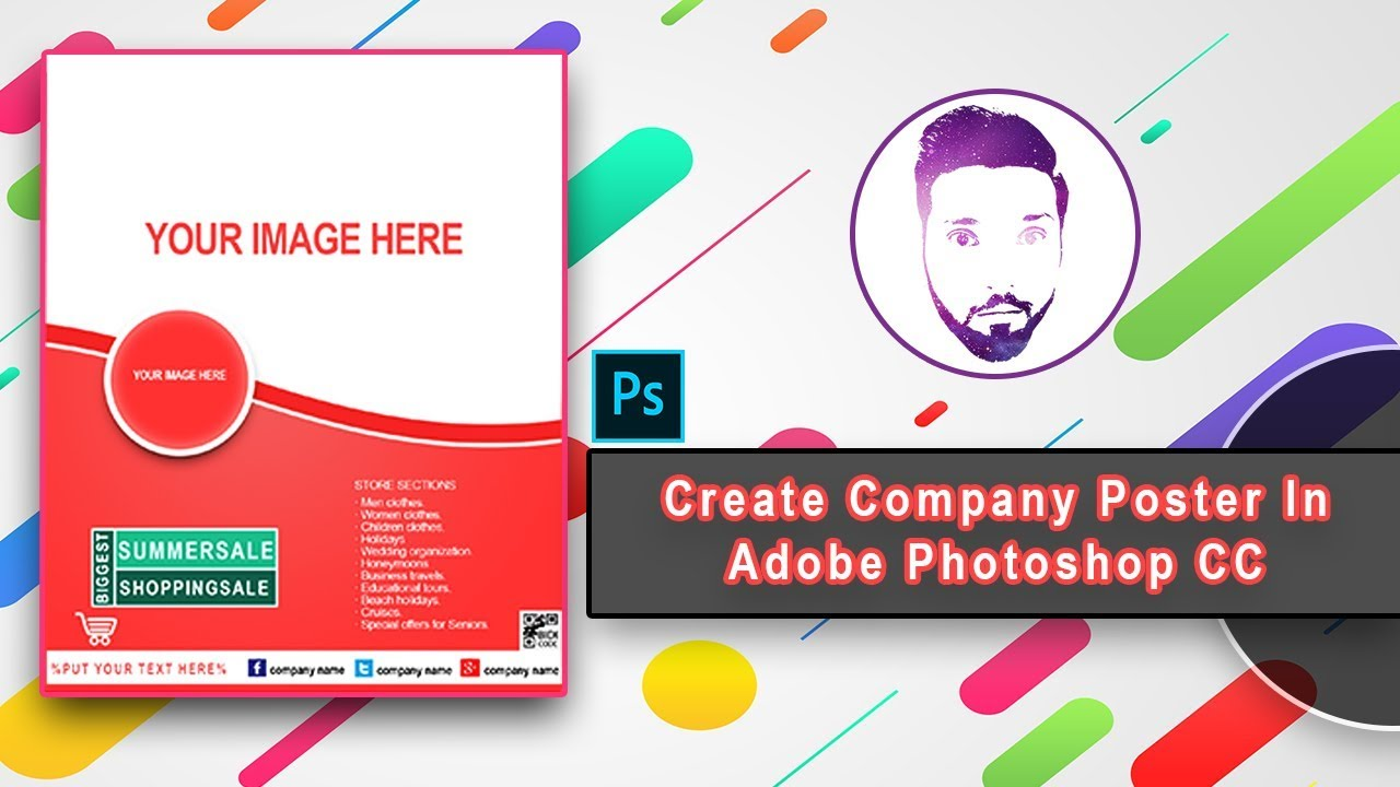 Cc Tutorial Learn How To Create Company Poster In Adobe Photoshop Cc Tutorial