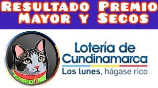 Resultado Loteria de Cundinamarca Premio Mayor y Secos Martes 21 Junio de 2021