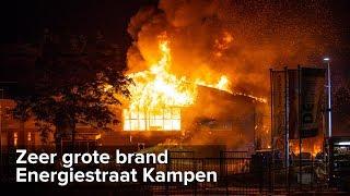 Zeer grote brand verwoest bedrijfspand Energiestraat Kampen - ©StefanVerkerk.nl