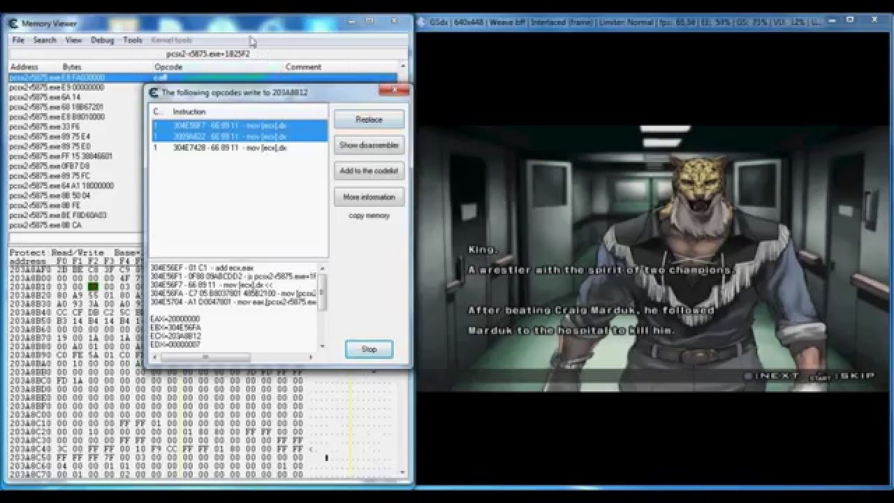 Tekken 5: How to unlock Jinpachi Cheat Engine PSCX2 ...
