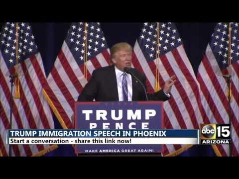 Donald Trump: People found violating welfare will be removed - Phoenix, Arizona