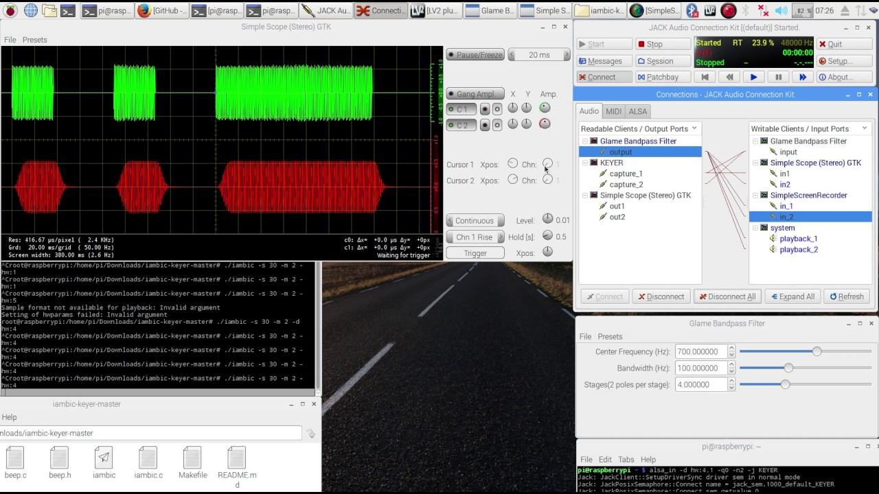 N1GP Raspberry Pi morse code cw iambic-keyer APP - live demo