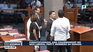 NEWS BREAK: Apat na LP Senators, pinalitan sa kanilang hawak na Committee Chairmanship