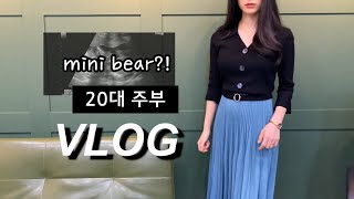 [A housewife in her 20s/Daily routine VLOG] Precious gift given..Mini-bear in to our life!