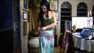 Repeat youtube video Tutorial Ganesha's XXXI.Amarrações apenas de saias.