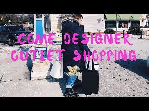 COME LUXURY SHOPPING | WOODBURY COMMON PREMIUM OUTLETS VLOG & HAUL | SAINT LAURENT, ACNE & MORE.