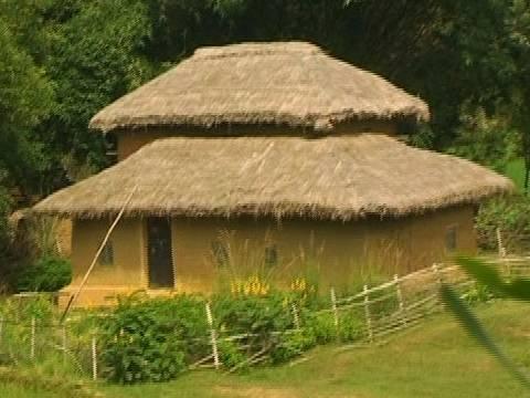 Santhal village house Santiniketan Kolkata Calcutta West Bengal