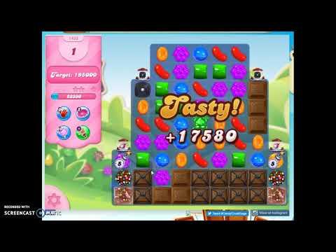 Candy Crush Level 1433 Audio Talkthrough, 2 Stars 0 Boosters