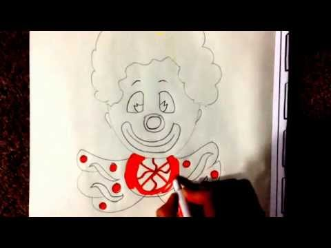 كيف ترسم المهرج للأطفال,drawing,clown