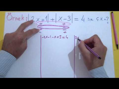 Mutlak Değer 2 Şenol Hoca Matematik