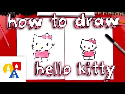 How To Draw Kitty New Lesson With Color