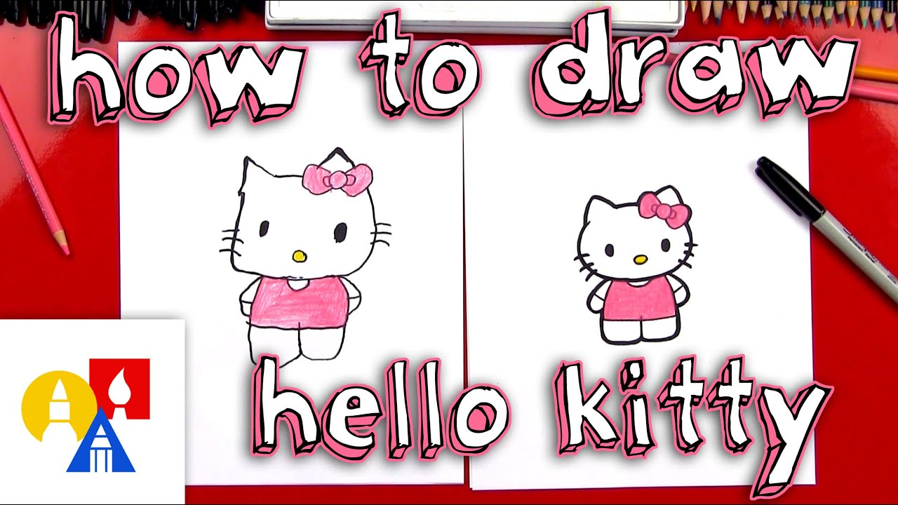 c7b436380 How To Draw Hello Kitty (New Lesson With Color) - YouTube