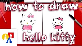 hello kitty for kids drawing lesson